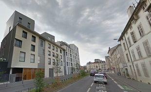 Capture d'écran de Google View. Rue de l'ïle de Corse à Nancy