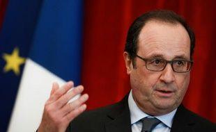 Le Président François Hollande à Colmar, le 23 janvier 2016