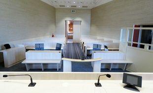 Une salle d'audience du tribunal correctionnel de Rennes.