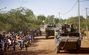 Des soldats de l'Armée française déployés dans le nord du Burkina-Faso dans le cadre de l'opération Barkhane.