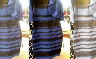 Images d'une robe dont la couleur a créé un débat mondial