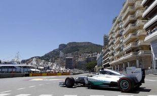Nico Rosberg lors qualifications du Grand Prix de Monaco le 24 mai 2014.