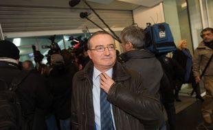 Le député LR Hervé Mariton, le 14 décembre 2015 au siège du parti Les Républicains à Paris.
