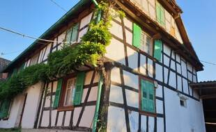 La ferme «'S Weileschnieder's» à Engwiller, Alsace.
