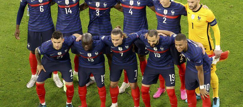 L'équipe de France avant son match contre l'Allemagne, mardi 15 juin 2021.