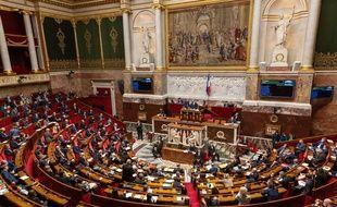 L'hémicycle de l'Assemblée nationale, le 9 février.