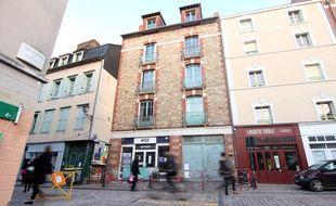 L'affaissement lié au creusement de la ligne B du métro par le tunnelier Elaine, ici rue de Saint-Malo à Rennes.