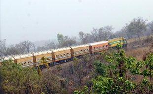 Un train reliant Lagos à Kano, le 8 février 2013 au Nigeria