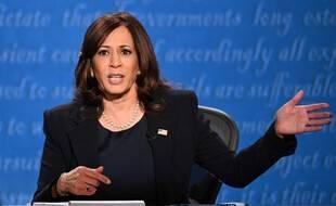Kamala Harris, lors de son débat face à Mike Pence, le 7 octobre 2020.