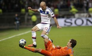 Le défenseur de l'OL Christophe Jallet, le 29 septembre 2015, contre Valence.