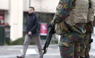 L'armée belge patrouille dans la capitale, 23 novembre 2015.