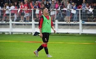 Juan Fernando Quintero, ici lors de l'entraînement délocalisé du Stade Rennais à Dinan-Léhon, le 2 septembre.
