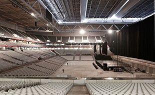"""Le stade Pierre Mauroy en configuration """"boite à spectacles"""" pour le concert de Rihanna."""