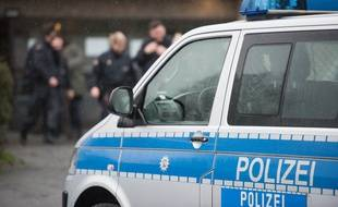 Illustration d'un véhicule de la police allemande.