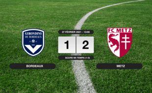 Bordeaux - Metz: 1-2 pour Metz contre Bordeaux au Matmut Atlantique