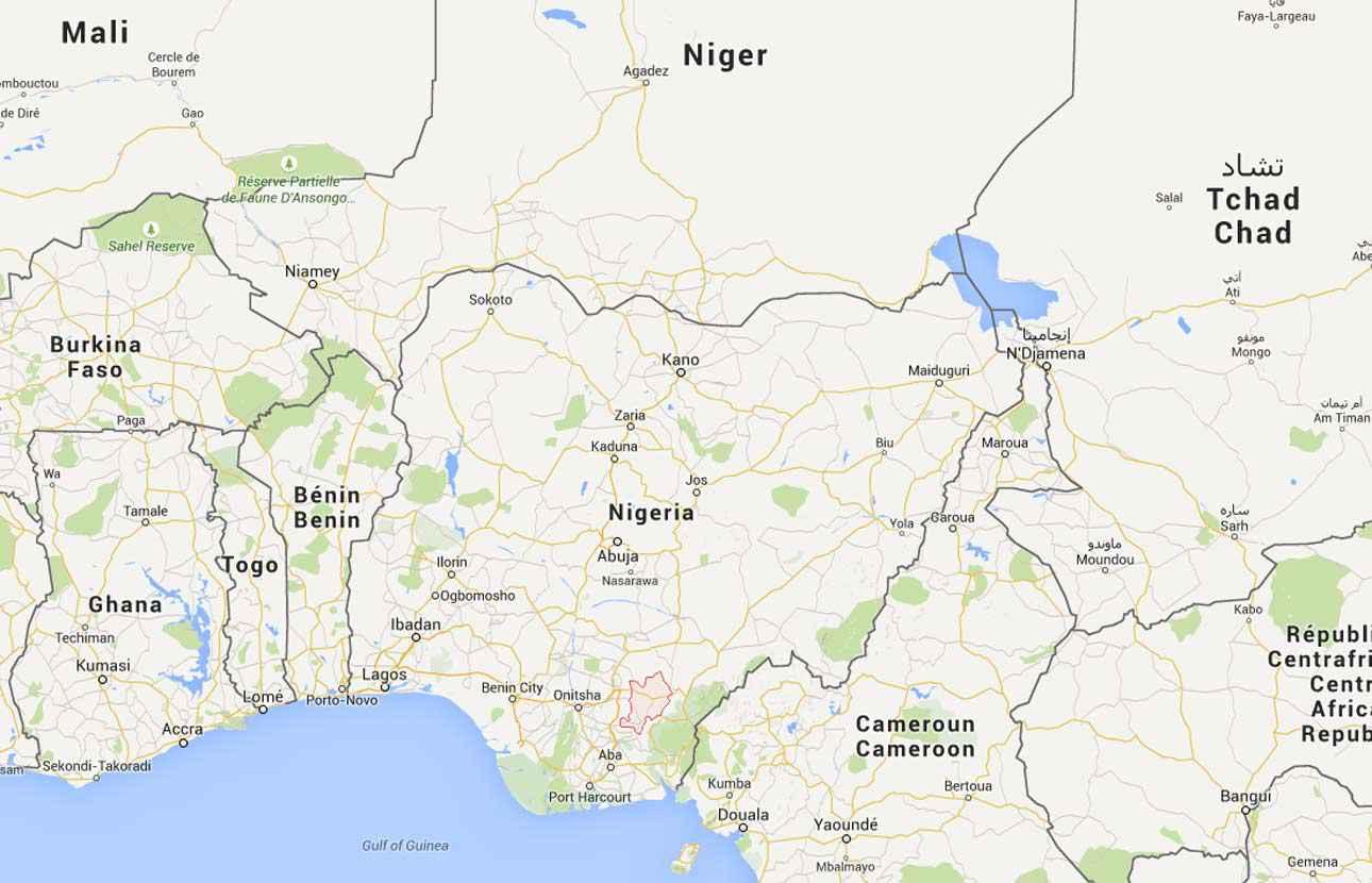 Nigeria carte touristique for Carte touristique