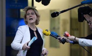 Nadine Morano le 10 juin 2014 au siège de l'UMP à Paris