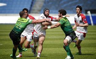 Match aller des 1/2 finales de fédérale 1 de rugby qui opposait Lille à Montauban.
