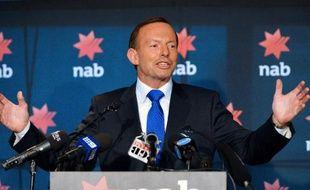 Le Premier ministre conservateur australien Tony Abbott à Sydney le 20 février 2014