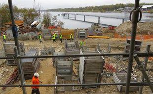 Le chantier sur l'Ile de loisirs de Vaires-Torcy (Seine-et-Marne)