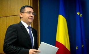 Le Premier ministre roumain Victor Ponta, le 10 novembre 2014 à Bucarest