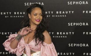 La chanteuse Rihanna à Madrid