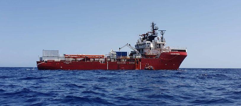 L'Ocean Viking, la bateau affrété par MSF et SOS Méditerranée pour porter secours aux migrants.