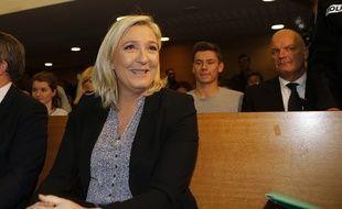 Marine Le Pen, présidente du Front national, le 20 octobre 2015 à Lyon.