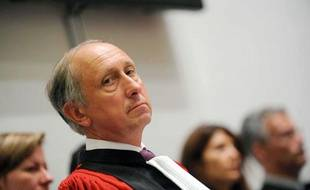 Philippe Courroye lors d'une audience solennelle d'installation du nouveau president du tribunal de grande instance de Nanterre en 2010.