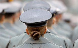 Une militaire en Pennsylvanie aux Etats-Unis, le 14 décembre 2019.