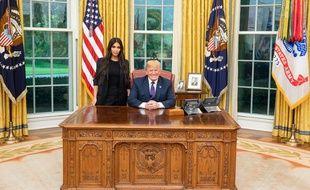Donald Trump a reçu Kim Kardashian à la Maison Blanche le 30 mai 2018.