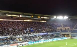 Le message du soutien des supporters du Racing à ceux du FC Nantes.