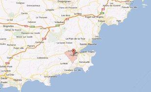 Google map du Var.