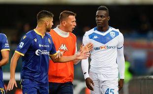 Balotelli a subi des injures racistes lors d'un match face au Hellas Vérone.