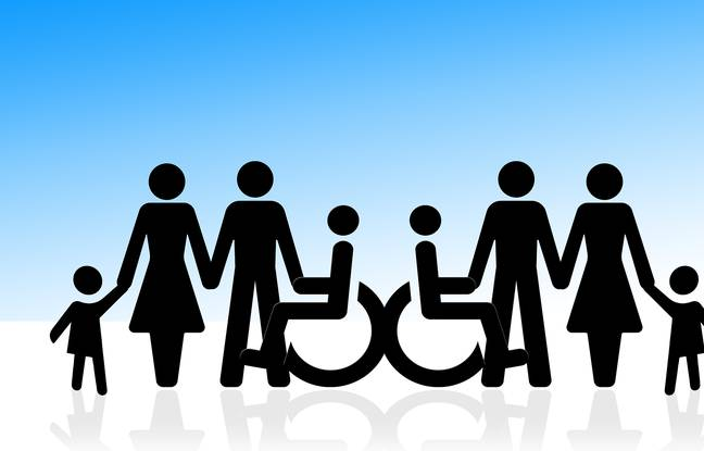 Illustration of the inclusion of persons with disabilities.