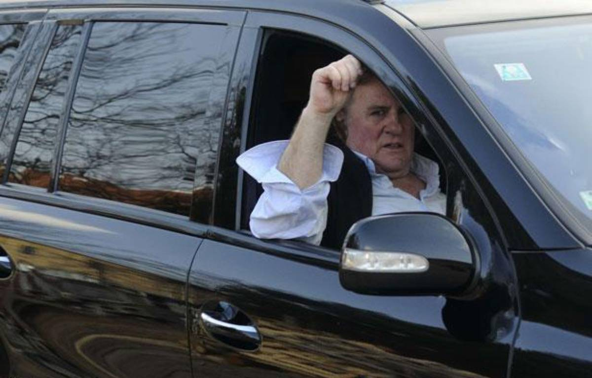 Gérard Depardieu près de Pilsen, République tchèque, le 6 mars 2012. – Petr Eret/AP/SIPA