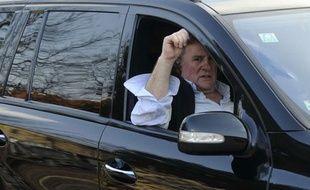 Gérard Depardieu près de Pilsen, République tchèque, le 6 mars 2012.