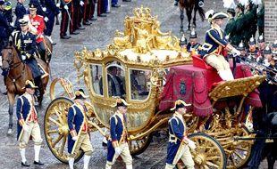 Le «Carrosse d'or» du couple royal néerlandais, le 15 septembre 2015 à La Haye (Pays-Bas).
