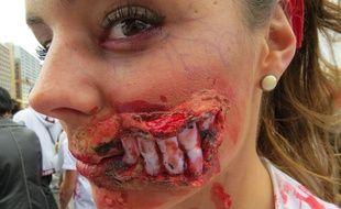 Lors de l'édition 2015 de la Zombie Wak toulousaine, le 4 octobre.