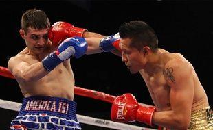 L'américain Rod Salka contre le Mexicain Francisco Vargas dans un combat de boxe le 12 avril 2018