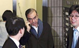 Carlos Ghosn devant le bureau de son avocat à Tokyo, le 12 mars 2019.