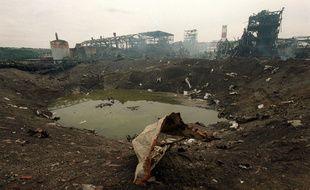 Le cratère où a eu lieu l'explosion, là au lendemain du 21 septembre 2001, est encore sous scellé.