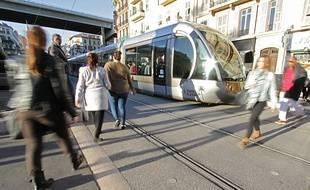 Le tramway de Nice est en service depuis 2007.
