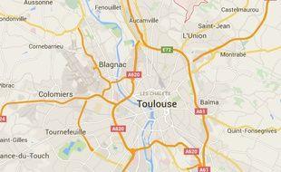Localisation de Saint-Geniès-Bellevue, dans la banlieue nord de Toulouse.
