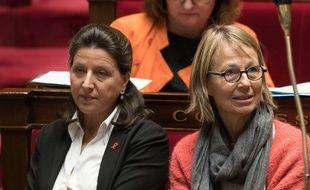 Agnès Buzyn et Françoise Nyssen à l'Assemblée nationale, le 5 décembre 2017.