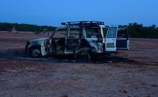 Une photo de la voiture transportant huit personnes, dont six Français, tués au Niger le 9 août 2020.