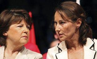 Martine Aubry et Ségolène Royal, fin mai 2009.