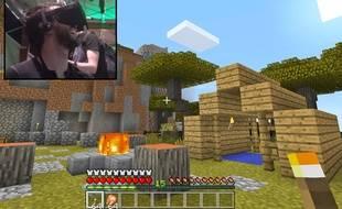 Le jeu «Minecraft» en réalité virtuelle sur l'Oculus Rift.
