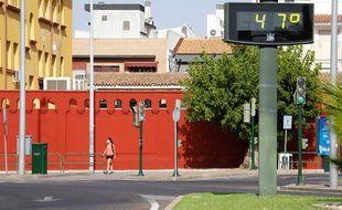 A Cordoue en Espagne, le thermomètre a atteint les 47 degrés le 20 juillet 2020.