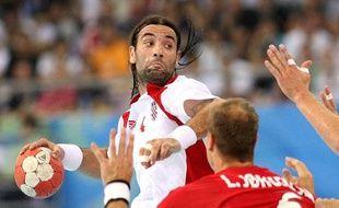 Le croate Ivano Balic, élu deux fois meilleur joueur du monde, face au Danemark, lors des jeux olympiques de Pekin.